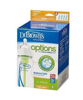 Dr. Brown's Natural Flow - OPTIONS - Wide Neck 270 ml