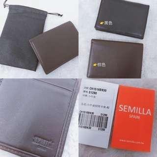 西班牙進口semilla名牌小牛皮信用卡夾/鈔票夾