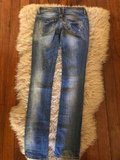 Denim jeans low waist