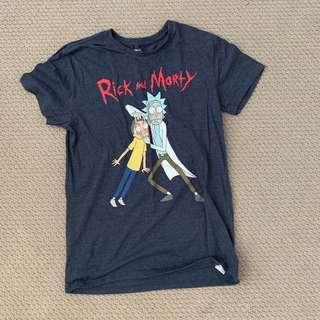 rick and morty graphic tee