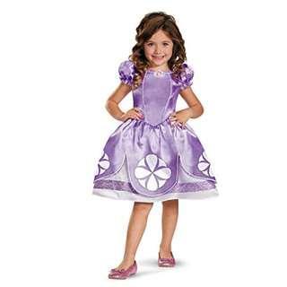 BNWT: Girl's Disney Sofia The First Classic Costume, 3T-4T
