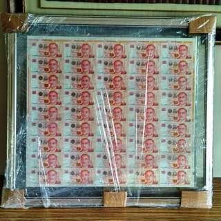 LHL $10 Uncut 100 Sheets Only Singapore Portrait