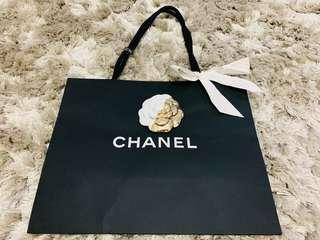 Chanel Authentic paper bag Limited Christmas edition Camellia