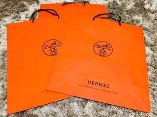 Hermes Authentic paper bag bundle of 3