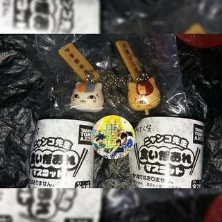 夏目友人帳 貓咪老師 小食 中華料理 饅頭 串燒 扭蛋 takara tomy 兩款 吊飾 電話繩