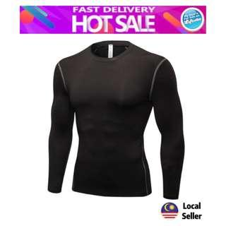 Professional Men Compression Fitness Long Sleeve PRO Sport Quick Dry Gym Shirt