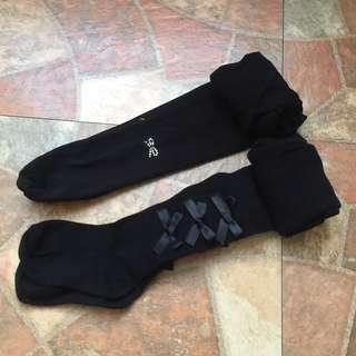 🚚 2款蝴蝶結造型女童褲襪 童襪 褲襪 棉襪 長襪 絲襪 襪子 保暖襪 內搭襪 造型襪~2款一起出清
