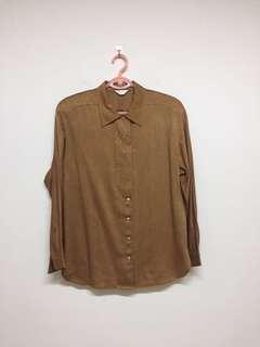 🚚 二手 專櫃古著棉質襯衫