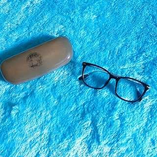 (Preloved) Kacamata Normal Frame Orely Black Silver
