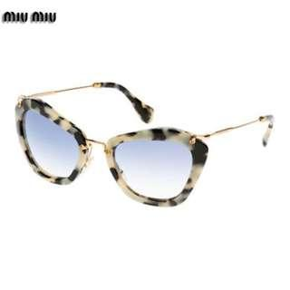 AUTHENTIC Miu Miu Gray Tortoise Sunglasses Blue Lenses Prada Gucci chanel balenciaga dior