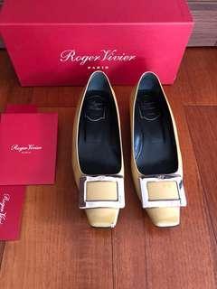 Roger Vivier Belle Vivier Patent Ballerinas