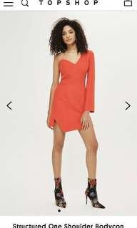 Topshop Structured Bodycon Dress