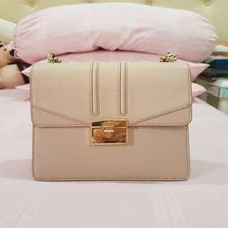 Charles & Keith Nude small handbag