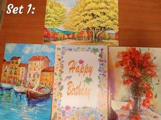 Wishes cards painting set