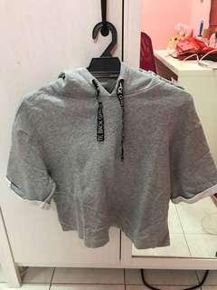 H&M grey hoodie top