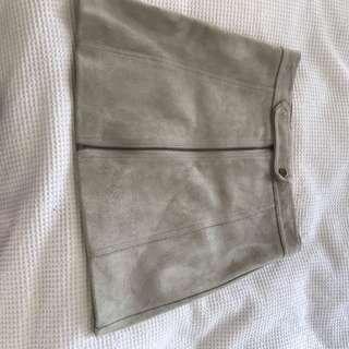 High waisted suede skirt size 8
