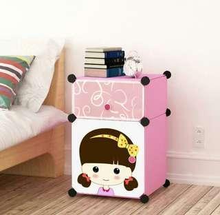 Bedside Cabinets Simple Fashion Children's Wardrobe Floor Bedrooms Wardrobe Cabinets Simple Modern - International