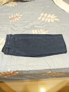 uniqlo 深藍牛仔褲