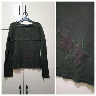 WA1034 Charmberrytic Military Green Sweatshirt - see pics for Measurements