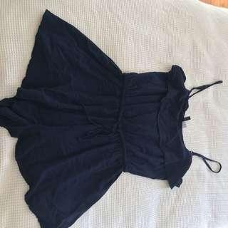 Navy blue playsuit size 8