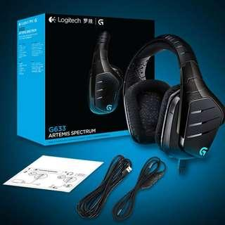 Logitech G633 Artemis Spectrum 7.1 RGB Gaming Headset (Wired)