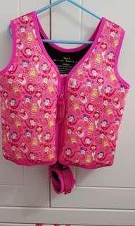 Preloved watercolors swim vest