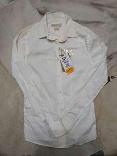 Bershka White Long Sleeve Shirt