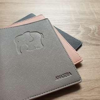 Passport Holder custom embossed saffiano