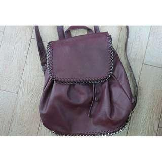 FOREVER 21 BURGUNDY BACKPACK
