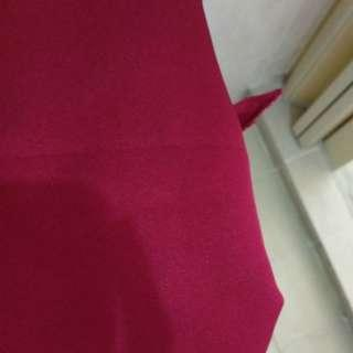 Maroon red cotton mix poly fabric