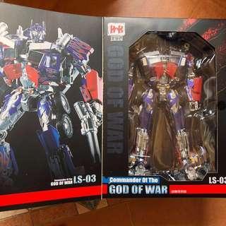 Transformers Black Mamba BMB - LS-03 LS03 Commander of the God of War plus free Autobot Decal / Sticker (Aka Upsized MPM-04 Optimus Prime) (MISB)