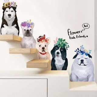Dogs Wall Stickers/ Wallpapers/ Wall Decor