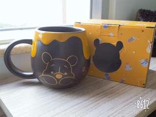 小熊維尼Winnie the Pooh 啡色瓷杯