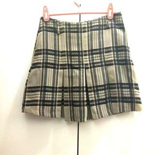 毛呢厚格子裙(有內裡)#衣櫃大掃除