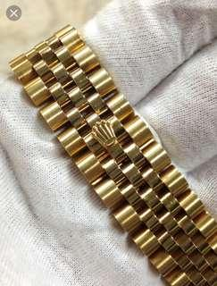 Wanted to buy 18k yellow gold rolex jubilee bracelets.