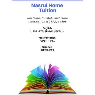 HOME TUITION BY NASRUL