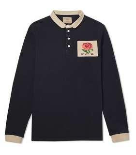 David Beckham Kent & Curwen Stokes Rose Ruby Shirt in Black