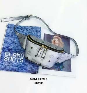 MCM Belt Bag Silver
