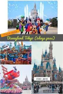 TOKYO DISNEYLAND (2 days pass) - Fixed Date