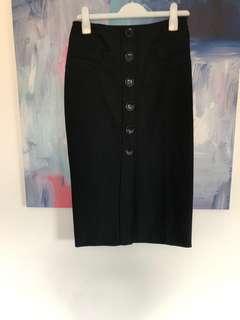 Karen Millen Pencil Skirt Black AU12