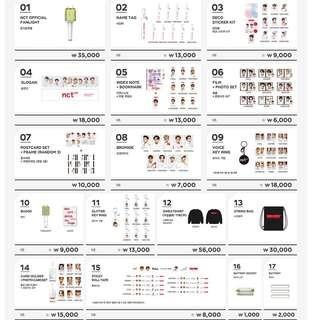 NCT 127 [NEO CITY : SEOUL - The Origin] Concert Goods Preorder