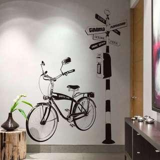 Bicycle Wall Decals/ Wall Stickers/ Wallpapers