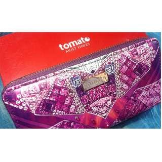 Purple Tomato Long Wallet