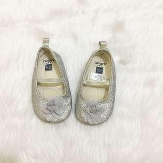 Caters flat silver shoes