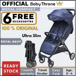 [Free 6 Gift] Baby Throne Royal Compact Baby Stroller 2019 New Version Premium