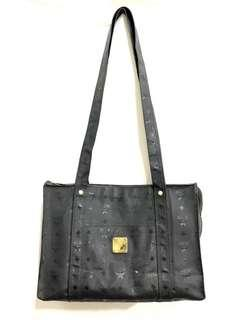 MCM Canvas Black Tote Bag