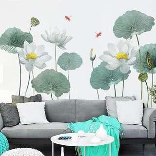 Lotus flower Wall decals/ Wallpapers/Wall Stickers