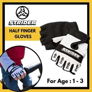 Original Strider Half Finger Gloves for 1 - 3 years old safety protective gear