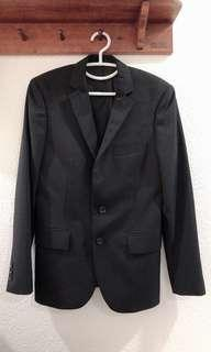 LN G2000 Man Slim Fit Black Blazer for Men