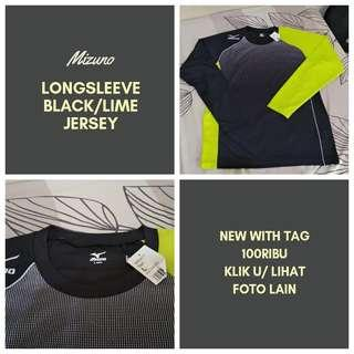 Mizuno Longsleeve Black/Lime Jersey #maups4